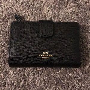 Coach black small wallet
